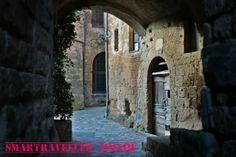 """#Civita di #Bagnoregio. Il borgo sospeso a mezz'aria. Civita di Bagnoregio is a small Italian hill #town in the province of #Viterbo, region of #Lazio, in #CentralItaly, known as """"the town that is dying"""" #Italia #Borghi"""