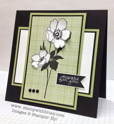 Stampin' Up! Fabulous Florets Thank You Card