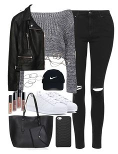 """Outfit for shopping in autumn"" by ferned on Polyvore featuring Topshop, Boohoo, adidas Originals, Zara, Bobbi Brown Cosmetics, Nike Golf, Apt. 9, Forever 21 and GiGi New York"