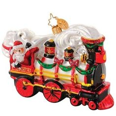about Christopher Radko - B&O Railroad - Complete Set of 12 Train . Christmas Train, Old World Christmas, Santa Christmas, Christmas Stuff, Christmas Time, Train Ornament, Ornament Wreath, Hand Painted Ornaments, Glass Ornaments