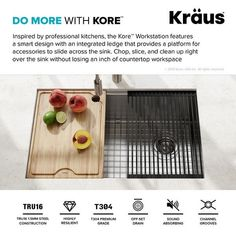 "KRAUS Kore Workstation Undermount Stainless Steel Kitchen Sink - On Sale - Overstock - 28302102 - 30"" L x 19"" W (KWU110-30) - Stainless Steel"