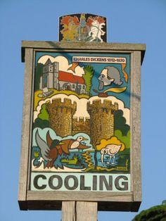 Cooling village sign, Kent, England