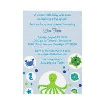 Diy standard party pack honu swirls blue boy by plumeriaprints under the sea baby shower invitation wording under the sea nautical baby shower invitations filmwisefo