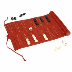 Roman Backgammon Set - leather
