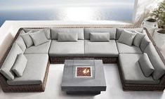 Majorca Classic Customizable Sectional from Restoration Hardware. Corner Sofa Design, Living Room Sofa Design, Outdoor Couch, Outdoor Furniture, Pit Sofa, Restoration Hardware Outdoor, Floor Sitting, Luxury Sofa, Lounge