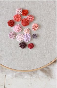 french knot I remember when I used to do projects like these.  Did I have more time?  Or maybe my eyes got older.  Hm.