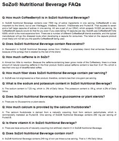 NUTRITIONAL BEVERAGES FAQ - Barway Success Team