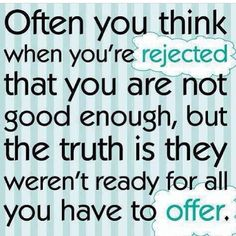 Often you think...