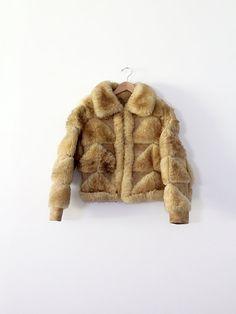 vintage shearling fur coat by 86Vintage86 on Etsy