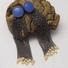 Black  plated earring. celeb earringparty earring designer