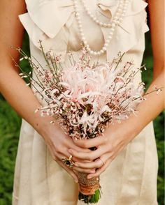 I would be willing to settle for having pink as one of my wedding colors, just so I could have this bouquet.