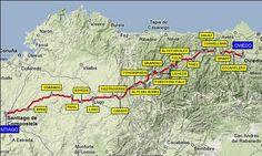 ruta del #CaminoPrimitivo, uno de los más antiguos, bellos, duros, impresionantes y escabrosos de todos los que recorren el #CaminodeSantiago. http://bit.ly/1jq5xOP