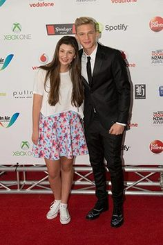 Jamie Curry (New Zealand Online Acting Success) and Cody Simpson (Singer from Australia).  http://cdn.four.co.nz/tv/AM/2013/11/22/96559/6.jpg?crop=auto&maxwidth=620&maxheight=415