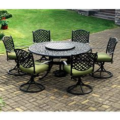 Outdoor Dining Patio Furniture international caravan five-piece wrought iron patio set | iron