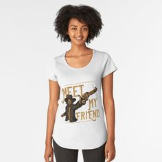 Promote | Redbubble My T Shirt, Tshirt Colors, Cap Sleeves, Looks Great, Fitness Models, Shirt Designs, Scoop Neck, T Shirts For Women, Tees