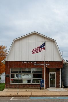 United States Post Office. Centreville, Saint Joseph County, Michigan, 49032, via Flickr Saint Joseph, County Seat, State Of Michigan, Post Office, Small Towns, Offices, Abandoned, This Is Us, United States