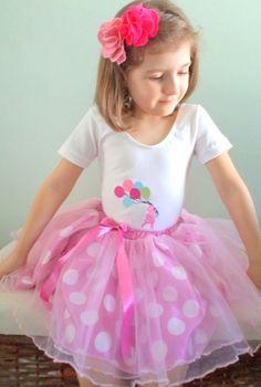 Conjunto - Menina e balões - 0 a 8 anos