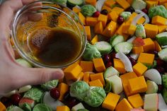 roasted sprouts, squash & cranberries by shutterbean, via Flickr