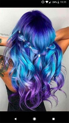blue ombre hair color trend in trendy hairstyles and colors blue omb., blue ombre hair color trend in trendy hairstyles and colors blue omb. blue ombre hair color trend in trendy hairstyles and colors blue ombre hair; Cute Hair Colors, Pretty Hair Color, Bright Hair Colors, Beautiful Hair Color, Hair Color Purple, Hair Dye Colors, Brown Ombre Hair, Blue Ombre, Aesthetic Hair
