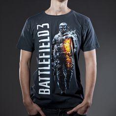 GEEK IT UP! Battlefield 3 Soldier Grey T-Shirt