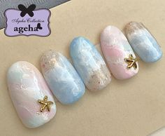 You don't need to choose the same nail art patterns over and over again. Ocean Nail Art, Beach Nail Art, Beach Nails, French Manicure Nails, Pedicure Nail Art, Gel Nail Art, Gel Nails, Sand Nails, Funky Nail Art