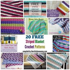 20 Free Striped Blanket Crochet Patterns compiled by The Stitchin' Mommy | www.thestitchinmommy.com
