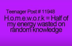 Teenage Post...so true
