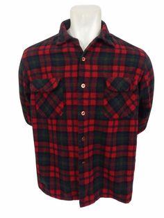 Pendleton Flannel Shirt Size XL Wool Button Front Plaid Mens Long Sleeve #Pendleton #ButtonFront