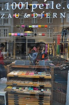 beads & ribbons shop in Copenhagen. This would be a great place to spend an afternoon :) Store Windows, Shop Fronts, Bead Shop, Copenhagen Denmark, Countries Of The World, Retail Design, Interior Architecture, Norway, Scandinavian