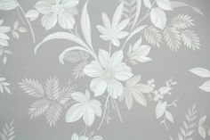 1940s Floral Vintage Wallpaper – Hannah's Treasures Vintage Wallpaper