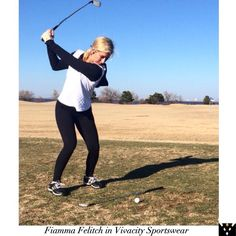 Check out Fiamma Felitch, Vivacity Sportswear's newest ambassador!  @lpga_fi is a Professional Golfer on the Symetra Tour & was Big Break Florida Runner-Up!⛳️ We love her story & her bubbling personality!!  Fiamma's staying as warm as possible ❄️wearing our Diamond Quilted Hanna Hoodie & Melissa Leggings! Golf Fashion