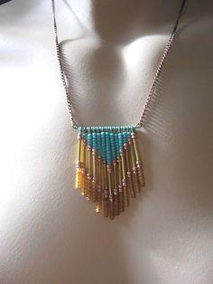 Beaded chevron necklace