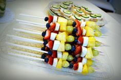 Fruit Skewers for bridal shower