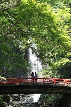 Minoh waterfall in Osaka, Japan