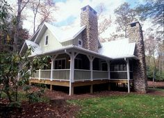 floorplans with wraparound porches | Wells Branch Cabin Farmhouse Plan 082D-0065 | House Plans and More