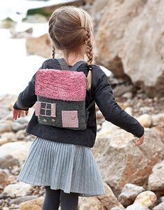 Book Kids 79 Autumn / Winter | 18: Kids Backpack | Dark grey / Medium rose / Rose-Silver