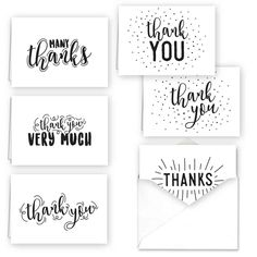Typography Thank You Assortment Card Set Color: Multi-Colored. Typography Thank You Assortment Card Set Multi-Colored Bullet Journal Writing, Bullet Journal Ideas Pages, Bullet Journal Inspiration, Creative Lettering, Lettering Styles, Calligraphy Cards, April Calligraphy, Caligraphy, Thank You Typography