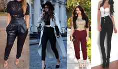 Outfits con pantalon talle alto Leather Pants, Capri Pants, Outfits, Youtube, Jeans, Girls, Fashion, Fashion Trends, Outfit