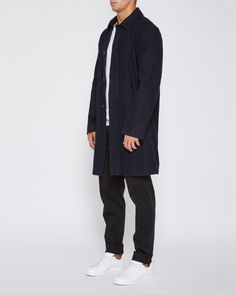 Jac and Jack - Mens Modern Car Coat Made From Japanese Indigo Denim