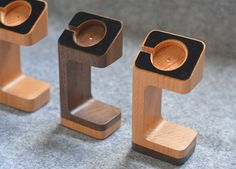 Wood Apple Watch Stand