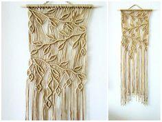 Macrame Wall Hanging Sprigs 2 Handmade Macrame Home by Macrame Design, Macrame Art, Macrame Projects, Macrame Knots, Micro Macrame, Macrame Wall Hanging Patterns, Macrame Patterns, Macrame Curtain, Macrame Tutorial