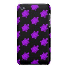 Purple Turtles Pattern Barely There iPod Case