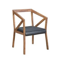 Urban Dining Chair by CDI International, a Montreal furniture design company that strives to use simple, eco-friendly manufacturing processes. In addition to maintaining high environmental standards, they travel the world to find the latest design trends and materials. As a result, the CDI aesthetic is sophisticated, warm, and refined. Made of sheesham wood in American Walnut finish, $500 !!