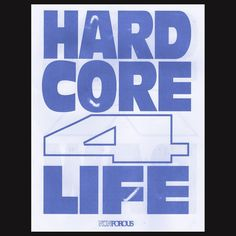 """Poster by NONPOROUS: HARDCORE 4 LIFE, 2016 b/w STR8 UP RAW Poster. 11""""x14"""". Blue Risoprint on 60# White. Edition of 50. Available at: non-poro.us⠀ ⠀ #slanted #slantedmagazine #slantedblog #typography #typo #typographie #typedesign #poster #design #FineArt #graphicdesign #weloveprint #designoftheday #diseñografico #graphic #affiche #cartel #printedmatters #publishing #creative Available magazine issues: Cuba, Switzerland, Istanbul, Paris, NewYork, Marrakech, Portugal and Warsaw at…"""