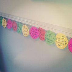 Birth affirmation bunting at George Eliot Maternity Hospital - promoting positive birth