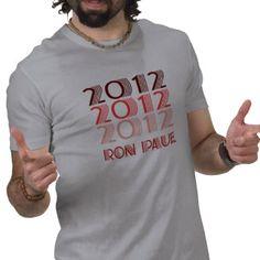 RON PAUL 2012 VINTAGE T-SHIRTS