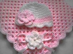 single crochet baby blanket for beginners - YouTube