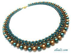 Tutorial Freya Necklace  Bead pattern by Ellad2 on Etsy, $7.00