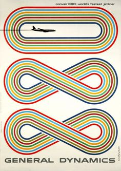Typeverything.com -Convair 880 poster designed by Eric Nitsche in 1959.  (ViaNumber of the day.)
