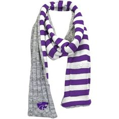 Women's Kansas State Wildcats Gray Varsity Scarf with Pocket